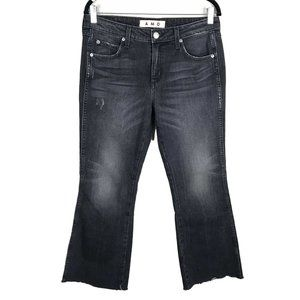 AMO Kick Crop Rascal Ankle Jeans Black 29